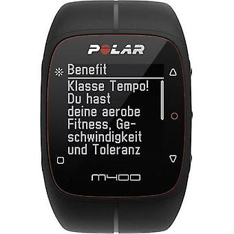 GPS heart rate monitor watch with chest strap Polar M400 HR black Bluetooth