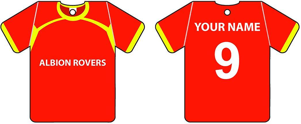 Personalised Albion Rovers Football Shirt Car Air Freshener