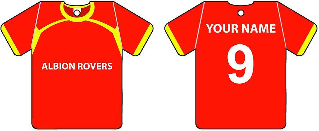 Personalisierte Albion Rovers Football Shirt Auto Lufterfrischer