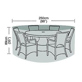 6-8 Seater Round Furniture Set Cover Waterproof Polyethylene Green