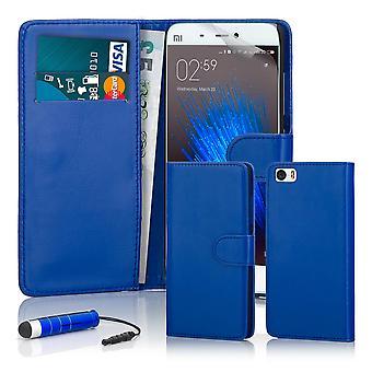 32. Buch Wallet Case + Stift für Xiaomi Mi5 - Deep Blue