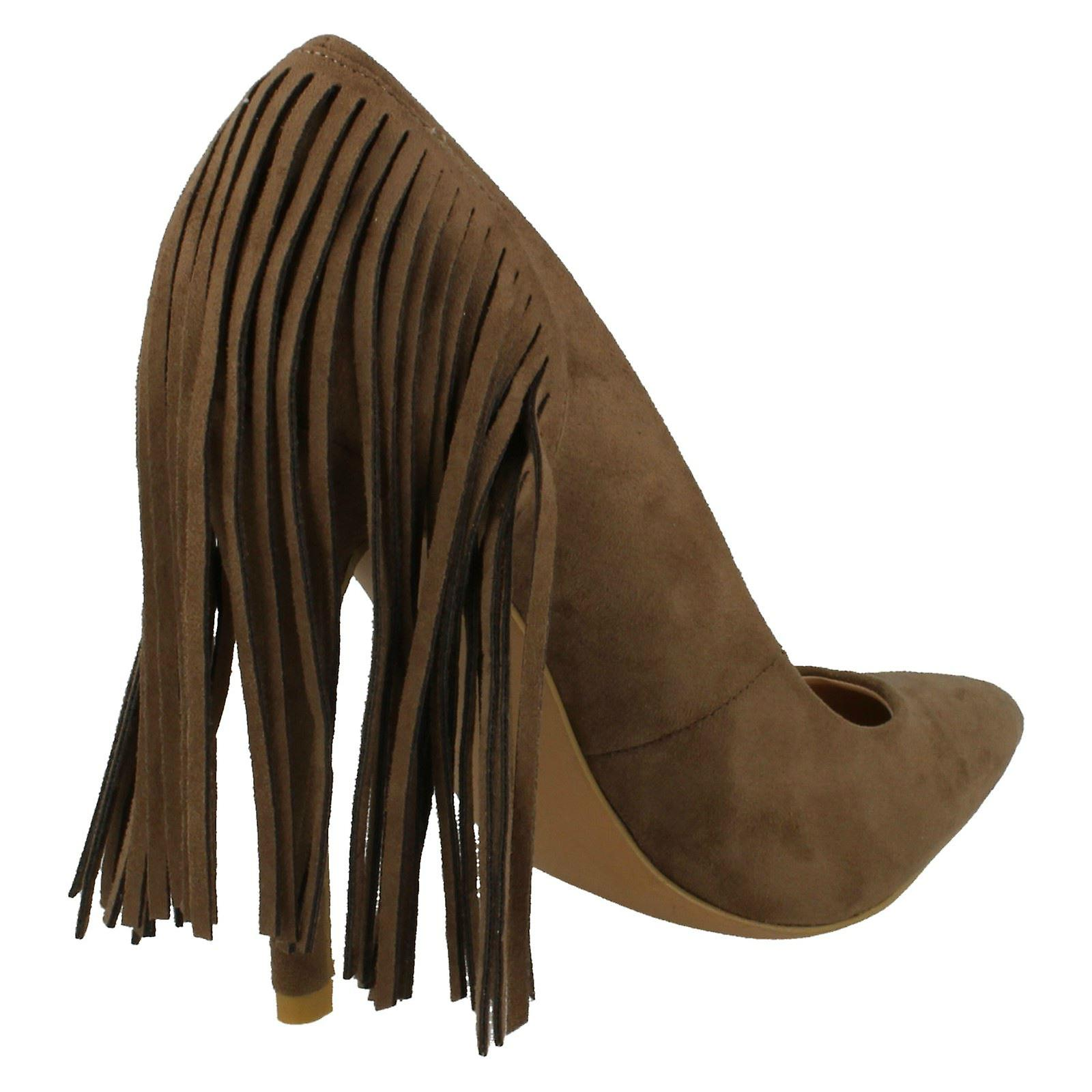 Shoe Fringe On Court Womens High F9879 Spot Trim Heel Avx6x0q1