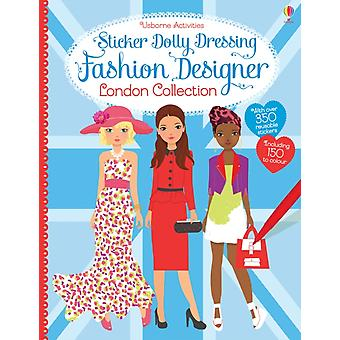 Sticker Dolly Dressing Fashion Designer London (Paperback) by Watt Fiona