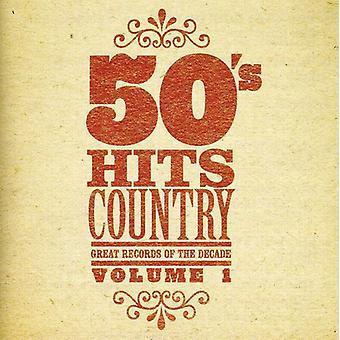 Importación de expedientes grandes de la década - años 50 Hits país n º 1 [CD] los E.e.u.u.
