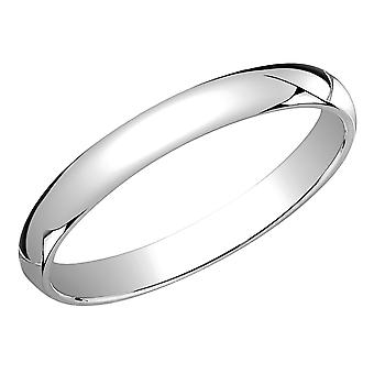 Ladies 3mm Wedding Band in 10K White Gold