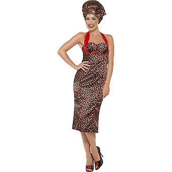 Рокабилли платье и заставку Черри дизайн 50 х 60 х костюм дамы