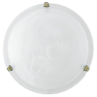 Eglo SALOME Alabaster Glass Flush Ceiling lys