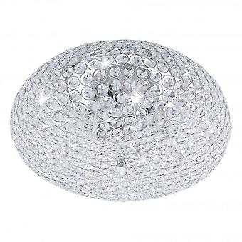 EGLO CLEMENTE Crystal Oval taklampa