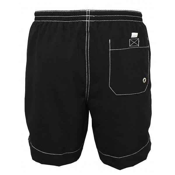 Jockey Contrast Waistband Swim Shorts, Black/White
