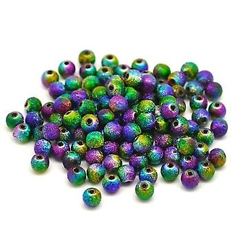 Boolavard® TM 100 Multicolor Stardust Round Beads Acrylic Spacer Beads 6mm Dia.