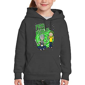 Rick And Morty Peace Among Worlds Kid's Hooded Sweatshirt