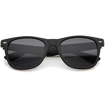 Classic 80's Retro Matte Frame Wide Temples Horn Rimmed Sunglasses 54mm