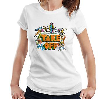 Take Off Where Hollywood Left Off Vintage Sketches Women's T-Shirt
