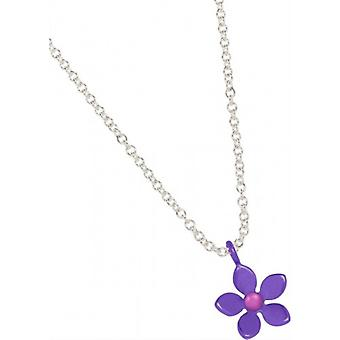 Ti2 Titanium 13mm Five Petal Flower Pendant - Imperial Purple