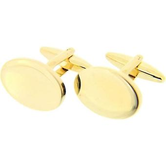 David Van Hagen Oval Cufflinks - Gold