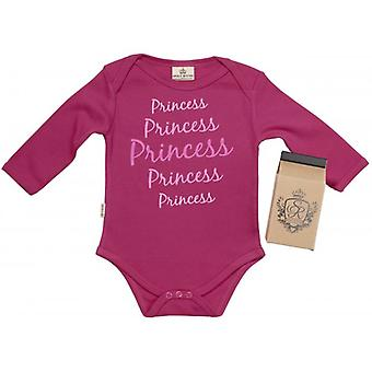 Spoilt Rotten Princess Baby Grow 100% Organic In Milk Carton