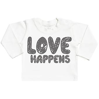 Spoilt Rotten LOVE Happens Long Sleeve Baby T-Shirt Top