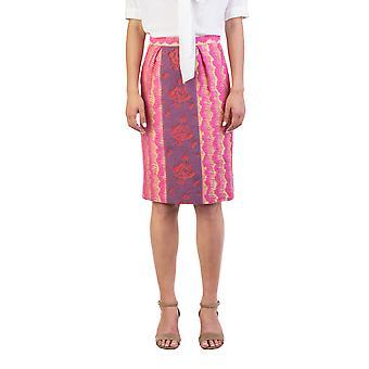 Coton mélange Floral jupe imprimée or Miu Miu femmes