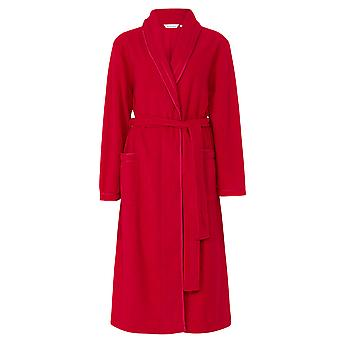Slenderella HC6323 Women's Red Dressing Gown House Coat Robe