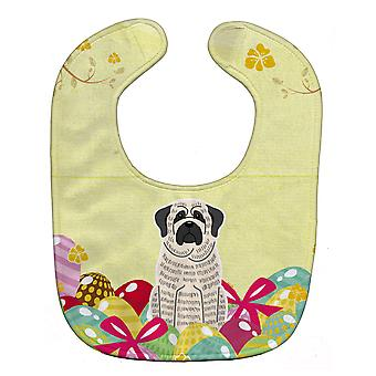 Carolines Treasures  BB6016BIB Easter Eggs Mastiff Brindle White Baby Bib