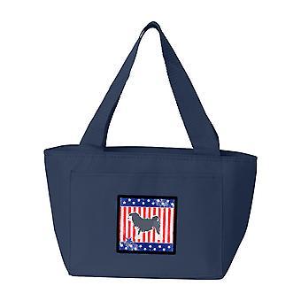 Carolines Treasures  BB3335NA-8808 USA Patriotic Lowchen Lunch Bag