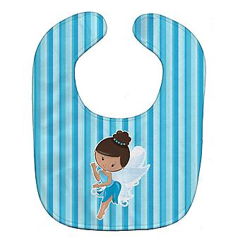 Carolines trésors BB6910BIB Fairy Blue Stripes Baby Bib
