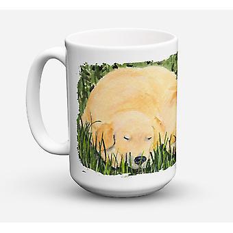 Golden Retriever lave-vaisselle sûre pour micro-ondes céramique café tasse 15 oz