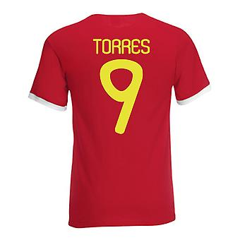 Fernando Torres Spain Ringer Tee (red)