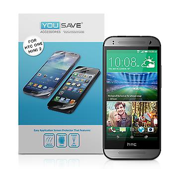 Yousave HTC One Mini 2 protectores de pantalla - Pack 3