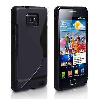 Caseflex Samsung Galaxy S2 S-Line Gel Case - zwart