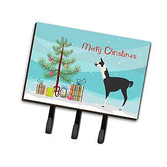 Carolines Treasures  BB9285TH68 Llama Q' Ara Christmas Leash or Key Holder