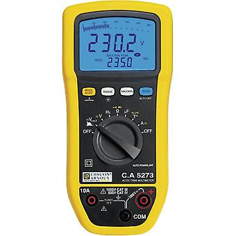 Handheld multimeter Digital Chauvin Arnoux C.A 5273 Calibrated to: Manufacturer's standards (no certificate) Splashproof