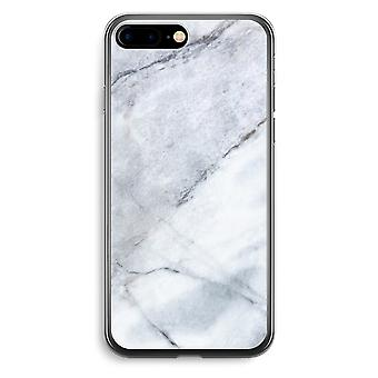 أي فون 7 بالإضافة إلى حالة شفافة (الناعمة)-الرخام الأبيض
