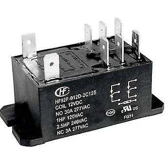 Plug-in relay 240 Vac 30 A 2 makers Hongfa HF92F-2