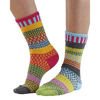 Freesia recycled cotton multicolour odd-socks | Crafted by Solmate