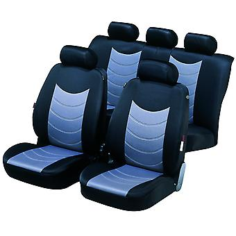 Felicia Car Seat Cover Black & Silver For Opel ASTRA H Van 2004-2009