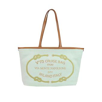 V ° 73 ladies MCGLBRE03151E green fabric Tote