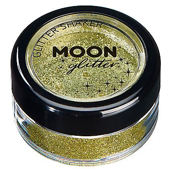 Fine Glitter Shakers by Moon Glitter – 100% Cosmetic Glitter for Face, Body, Nails, Hair and Lips - 5g - Gold
