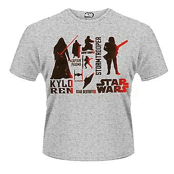 Star Wars- Red Villains Character T-Shirt