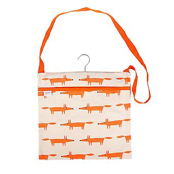 Scion Mr Fox Wipe Clean Peg Bag, Stone