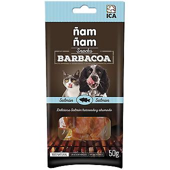 Ica Barbecue ?am ?am Salmon 50G (Dogs , Treats , Chewy and Softer Treats)