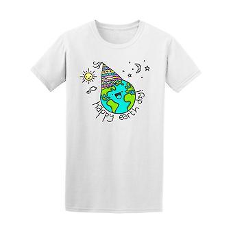 d484bfaf73b6 Erde Tag lustige Doodle T-Shirt Herren-Bild von Shutterstock