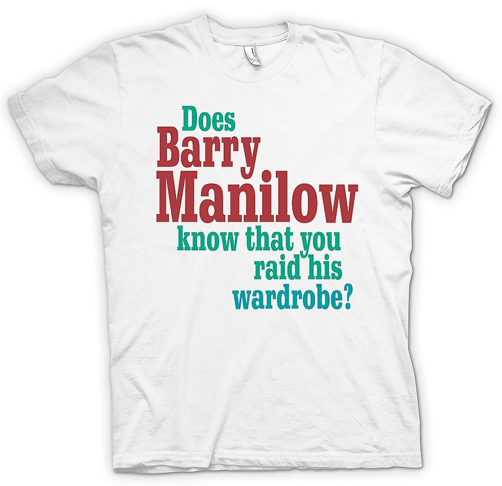 Womens T-shirt - Barry Manilow - lustig Zitat kennt