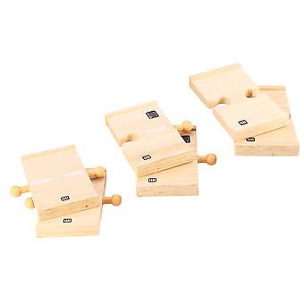 Bigjigs Rail Mini Roadway (Pack of 6) - Wooden Road Track Expansion
