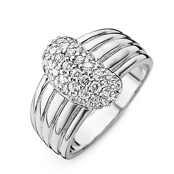 Orphelia Silver 925 Ring Large White  Zirconium   ZR-3756