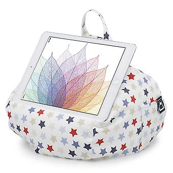 Ipad, Tablet & Ereader Bean Bag Stand By Ibeani - Blue & Red Stars