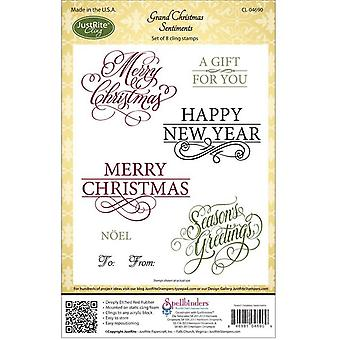 JustRite Papercraft Cling Stamps 5.5