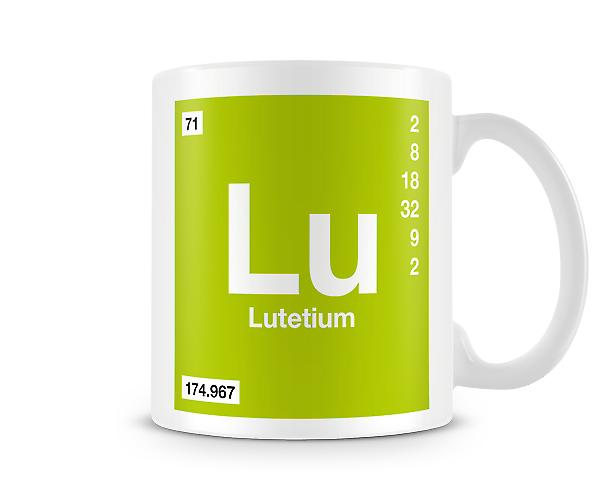 Element Symbol 071 Lu - Lutetium Printed Mug