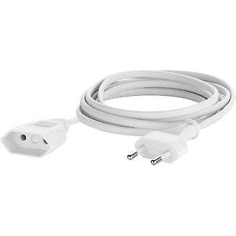 Sygonix 33512R Current Cable extension White 5 m