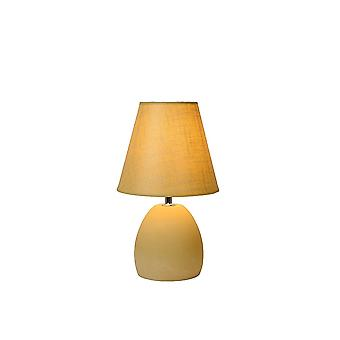 Lucide SOLO Ceramic Table Lamp With Yellow Shade